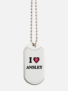 I Love Ansley Dog Tags