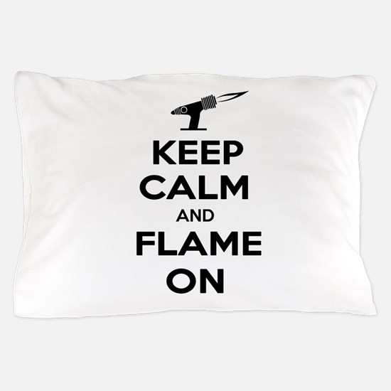 KeepCalmFlameOnBlk Pillow Case