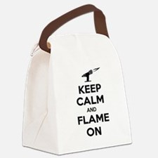 KeepCalmFlameOnBlk Canvas Lunch Bag