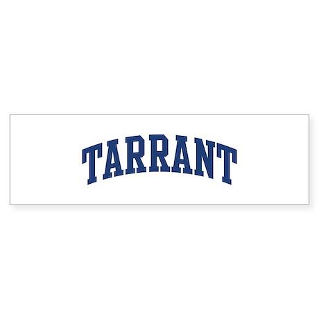 TARRANT design (blue) Bumper Sticker