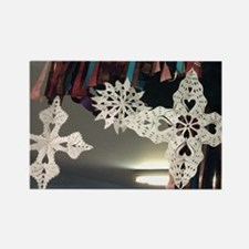Cute Paper snowflakes Rectangle Magnet