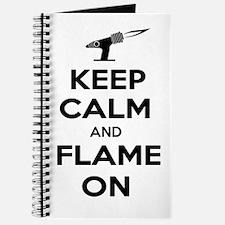 KeepCalmFlameOnBlk Journal