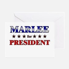 MARLEE for president Greeting Card