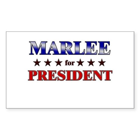 MARLEE for president Rectangle Sticker