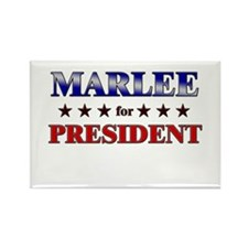 MARLEE for president Rectangle Magnet