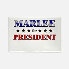 MARLEE for president Rectangle Magnet
