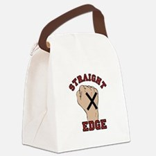 Straight Edge Canvas Lunch Bag