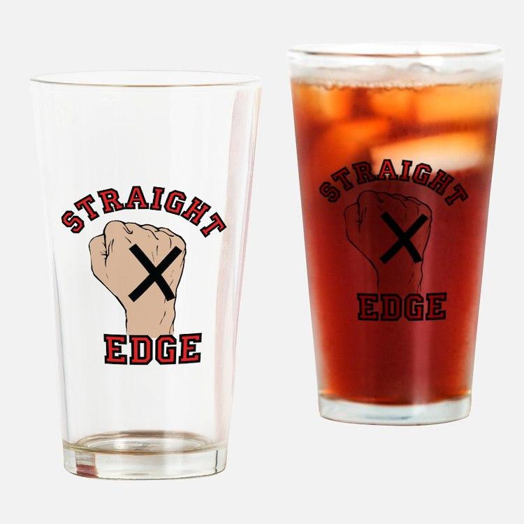 Straight Edge Drinking Glass