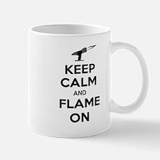 KeepCalmFlameOnBlk Mugs