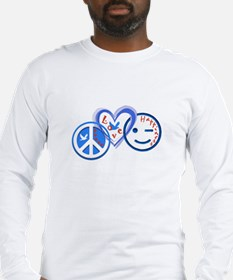 PeaceLoveHappiness.jpg Long Sleeve T-Shirt