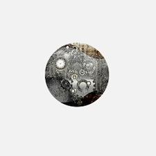 Steampunk, clocks and gears Mini Button