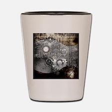 Steampunk, clocks and gears Shot Glass
