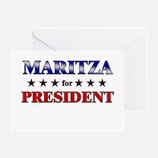 MARITZA for president Greeting Card