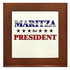 MARITZA for president Framed Tile