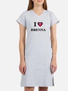 I Love Brenna Women's Nightshirt