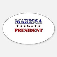 MARISSA for president Oval Decal