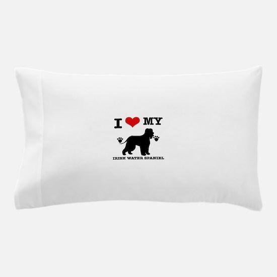 I Love My Irish Water Spaniel Pillow Case