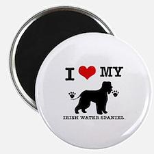 I Love My Irish Water Spaniel Magnet