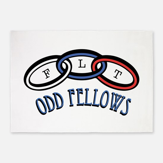 Odd Fellows 5'x7'Area Rug