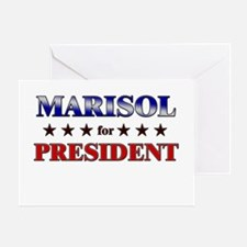 MARISOL for president Greeting Card