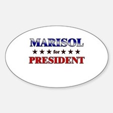 MARISOL for president Oval Decal