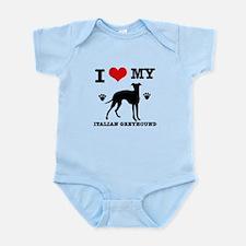 I Love My Italian Greyhound Infant Bodysuit