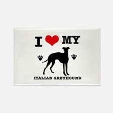 I Love My Italian Greyh Rectangle Magnet (10 pack)