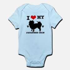 I Love My Japanese Chin Infant Bodysuit