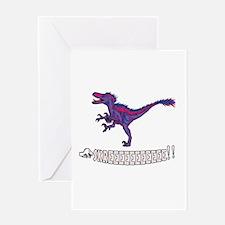 Bilociraptor - SKREEEEE!! Greeting Cards