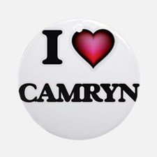 I Love Camryn Round Ornament