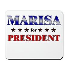 MARISA for president Mousepad
