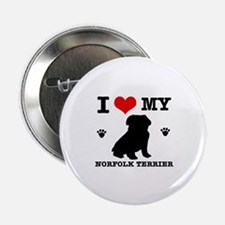 "I Love My Norfolk Terrier 2.25"" Button (100 pack)"