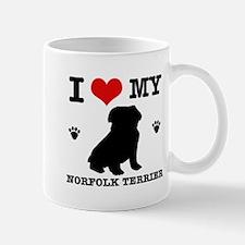 I Love My Norfolk Terrier Mug
