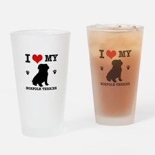 I Love My Norfolk Terrier Drinking Glass