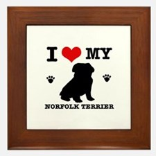 I Love My Norfolk Terrier Framed Tile