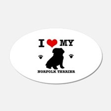 I Love My Norfolk Terrier Wall Decal