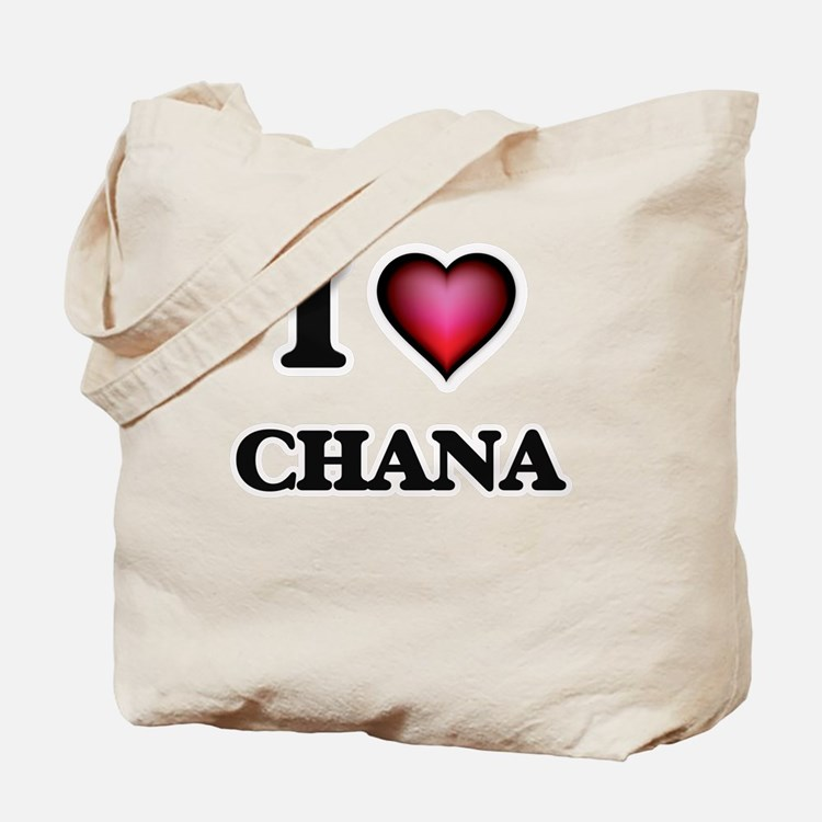 I Love Chana Tote Bag