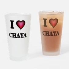 I Love Chaya Drinking Glass