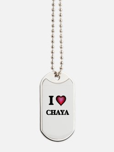 I Love Chaya Dog Tags