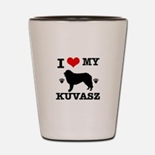 I Love My Kuvasz Shot Glass
