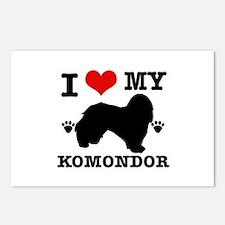 I Love My Komondor Postcards (Package of 8)