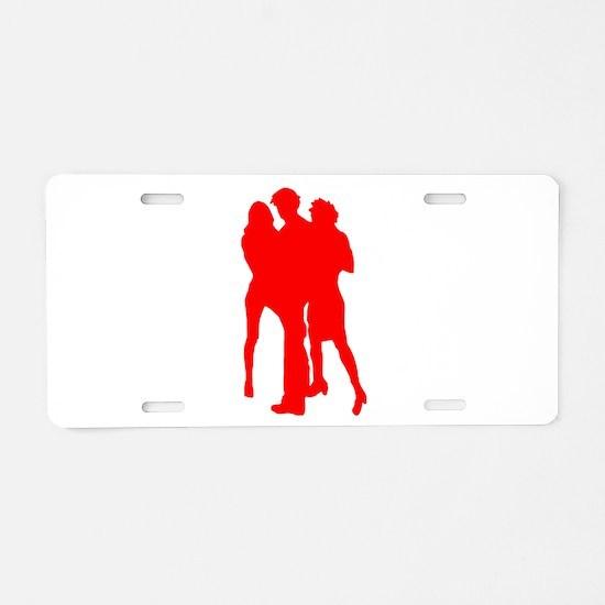 Blond girls Aluminum License Plate