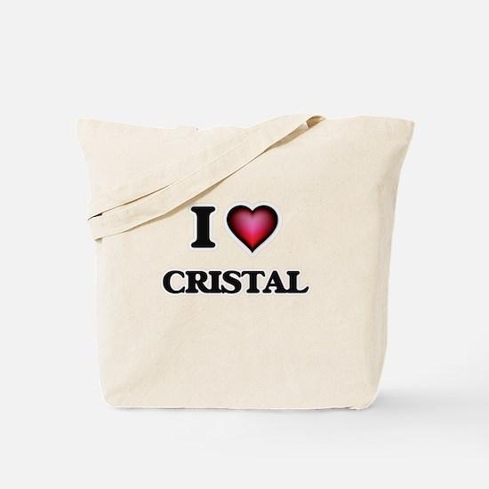 I Love Cristal Tote Bag