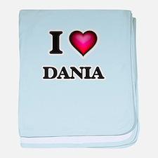 I Love Dania baby blanket