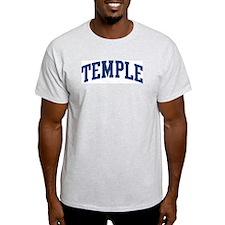 TEMPLE design (blue) T-Shirt