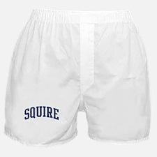 SQUIRE design (blue) Boxer Shorts