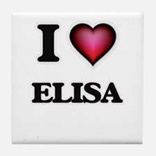 I Love Elisa Tile Coaster
