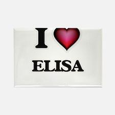 I Love Elisa Magnets