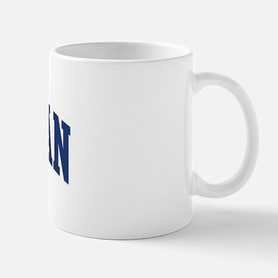 TALLMAN design (blue) Mug