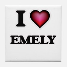 I Love Emely Tile Coaster